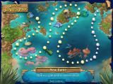 Feeding Frenzy 2: Shipwreck Showdown Windows The map of Shipwreck Strait.  Large circles are where you change what fish you are using.