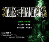 Tales of Phantasia SNES Title Screen