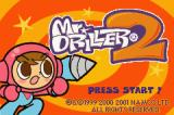Mr. Driller 2 Game Boy Advance Title screen.