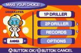 Mr. Driller 2 Game Boy Advance Main menu.
