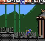 Ninja Gaiden Game Gear Going to the end of the level.