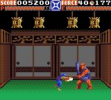 Ninja Gaiden Game Gear The first boss.