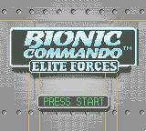 Bionic Commando: Elite Forces Game Boy Color Title screen