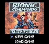 Bionic Commando: Elite Forces Game Boy Color Main menu