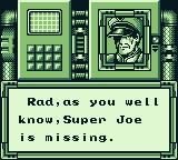Bionic Commando Game Boy Mission briefing