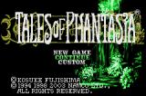 Tales of Phantasia Game Boy Advance Title screen