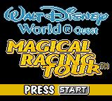 Walt Disney World Quest Magical Racing Tour Game Boy Color Title Screen