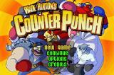 Wade Hixton's Counter Punch Game Boy Advance Title screen / Main menu.