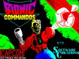 Bionic Commando ZX Spectrum Title screen