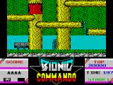 Bionic Commando ZX Spectrum Starting out