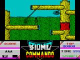 Bionic Commando ZX Spectrum Using my bionic arm