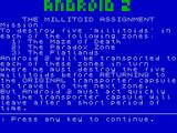 Android Two ZX Spectrum Instructions