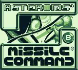 Arcade Classic 1: Asteroids / Missile Command Game Boy Select game (Game Boy)