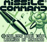 Arcade Classic 1: Asteroids / Missile Command Game Boy Missile Command title screen (Game Boy)
