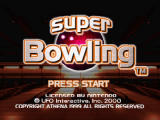Super Bowling Nintendo 64 Title screen.