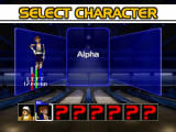 Super Bowling Nintendo 64 Bowler selection.