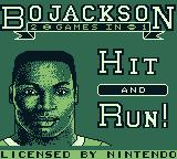 Bo Jackson: Two Games in One Game Boy Title screen 1