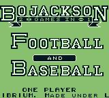 Bo Jackson: Two Games in One Game Boy Title screen 2