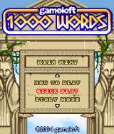 1000 Words J2ME Title Screen