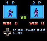 Captain America and the Avengers NES Select your player in battle mode