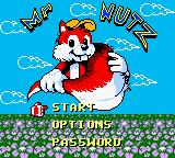 Mr. Nutz Game Boy Color Title screen / Main menu.