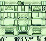 Burger Time Deluxe Game Boy Level 1