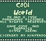 Cool World Game Boy Title screen