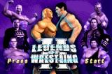 Legends of Wrestling II Game Boy Advance Title screen