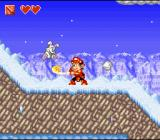 Super Adventure Island II SNES Ice level