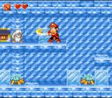 Super Adventure Island II SNES Inside an ice cave