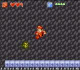 Super Adventure Island II SNES Fortunately the lightning-stones are activated so that you don't fall into the spikes