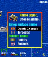 AH-6 Navy Battle J2ME Upon flying over an ammo platform, you can select the type of ammo you'd like to equip.