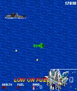 "AH-6 Navy Battle J2ME A ""Low on fuel"" message flashes, time to find a refill."