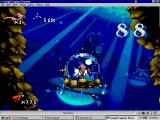 Earthworm Jim: Special Edition Windows Driving a submarine.