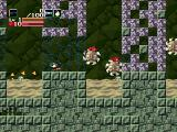 Cave Story Windows The wheel-shaped enemies explode into lots of small enemies.