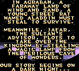 Disney's Aladdin Game Boy Color The story of level 1