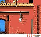 Disney's Aladdin Game Boy Color Climbing buildings