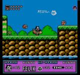 Felix the Cat NES Driving a motorcycle