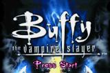 Buffy the Vampire Slayer: Wrath of the Darkhul King Game Boy Advance Title screen.