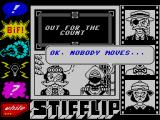 Stifflip & Co. ZX Spectrum The game starts with you in a hold-up