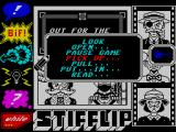 Stifflip & Co. ZX Spectrum The main menu