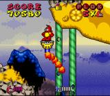 Plok SNES Using a destroyed cannon as flying platform