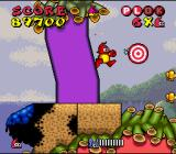 Plok SNES Shooting these targets changes a part of the level ...