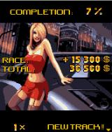 Asphalt: Urban GT J2ME After each race, you see how much of the game has been completed, along with your earnings.