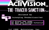 The Tracer Sanction PC Booter Title Screen