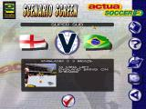 Actua Soccer 2 Windows Scenario Screen - Can Shearer will be enough for Brazil?