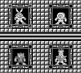 Mega Man: Dr. Wily's Revenge Game Boy Stage select