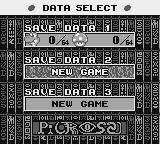 Mario's Picross Game Boy Select your data file