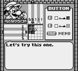 Mario's Picross Game Boy An easy 5 x 5 problem