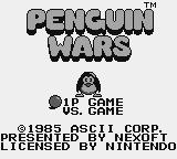 Penguin-Kun Wars Game Boy American title screen